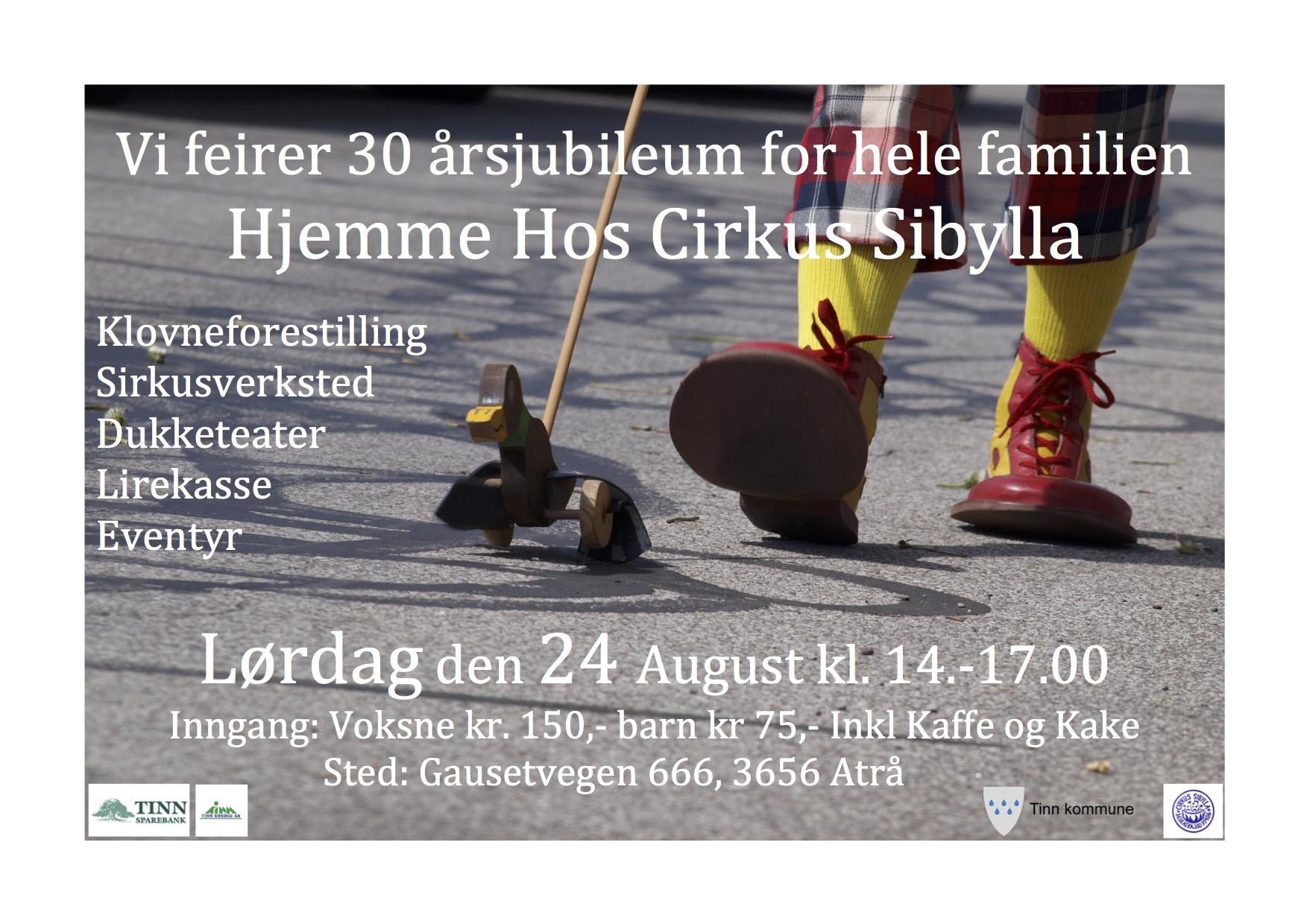 Plakat Cirkus Sibylla 30 års jubileum